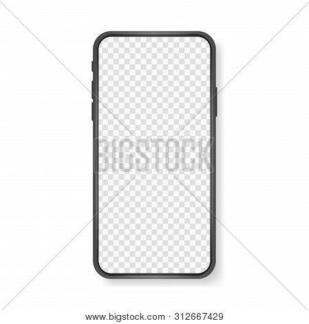 Smartphone Mockup With Empty Touch Screen, New Model Phone