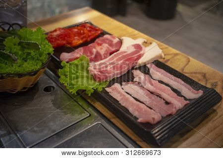 The Sliced Meat Clean, Fresh And Appetizing