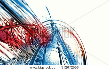 3D rendering of digital technology background