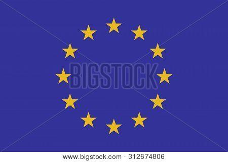 Flag Of Europe. Vector Illustration. World Flag