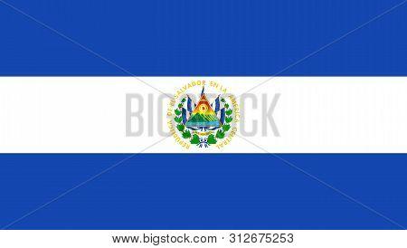 Flag Of El Salvador. Vector Illustration. World Flag