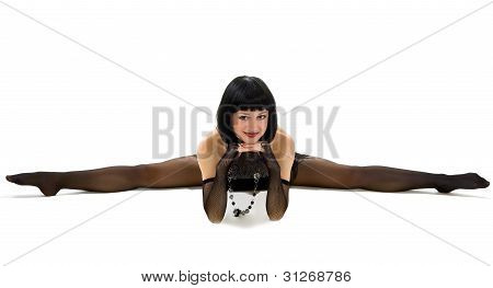 Young Girl In Acrobatic Feat.
