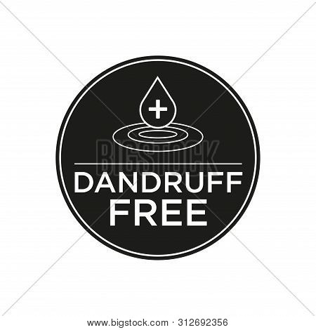 Anti Dandruff icon. Round and black symbol. poster