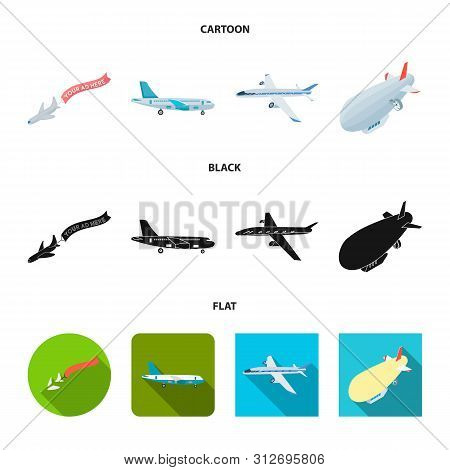 Vector Design Of Transport And Object Icon. Collection Of Transport And Gliding Stock Symbol For Web