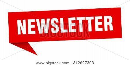 Newsletter Speech Bubble. Newsletter Sign. Newsletter Banner