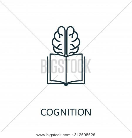 Cognition Thin Line Icon. Creative Simple Design From Artificial Intelligence Icons Collection. Outl
