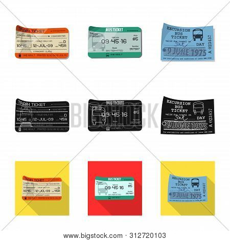 Vector Design Of Ticket And Admission Symbol. Collection Of Ticket And Event Vector Icon For Stock.