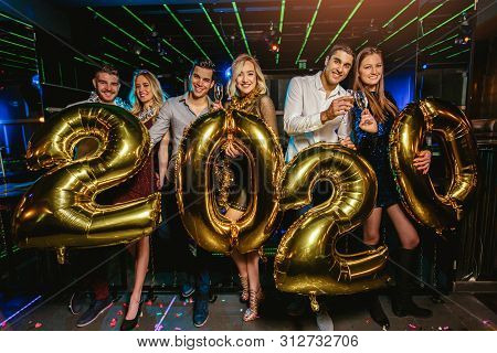 New Year Party Celebration With Friends In The Club