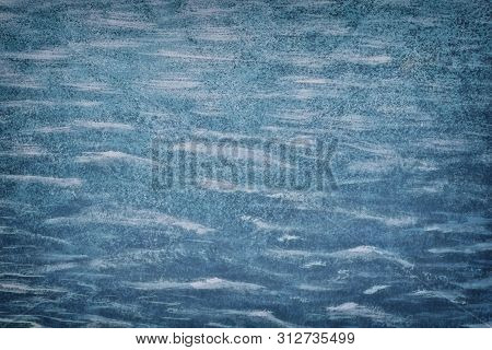 Old Blue Cement Wall Painted Texture Background Plaster Polishing Paint Rough High Resolution Backgr