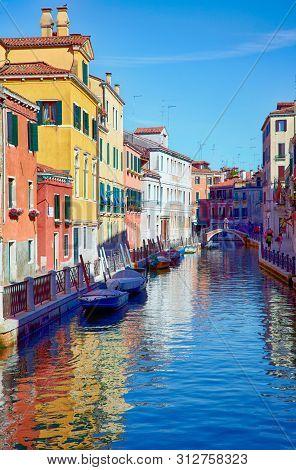 Fondamenta Rio Marin And Fondamenta Garzotti On Rio Marin In Cannaregio Area, Venice, Italy