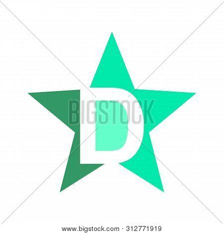 D Letter Star Concept Logo, Star Color Vector Logo,star Color Icon, Star Rating, Rank. Star Astrolog