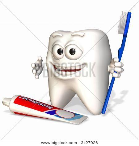 Smiley Zahn - denken Sie daran, Pinsel