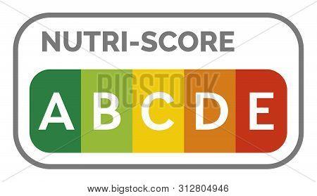 Nutri-score Label Sign System In France Illustration