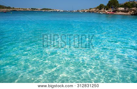Ibiza Port D es Torrent beach in Sant Josep of Balearic Islands