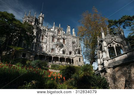 Castle Quinta da Regaleira, Sintra, Portugal.