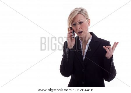 Secretary On The Phone Is Angry