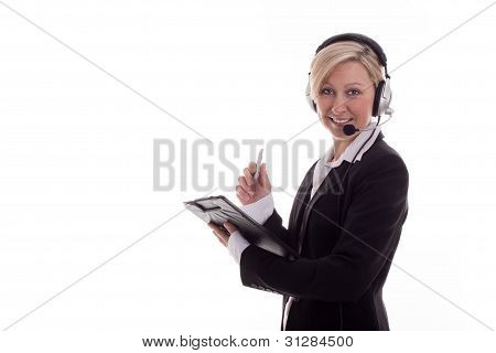 Businesswoman With Headset 3