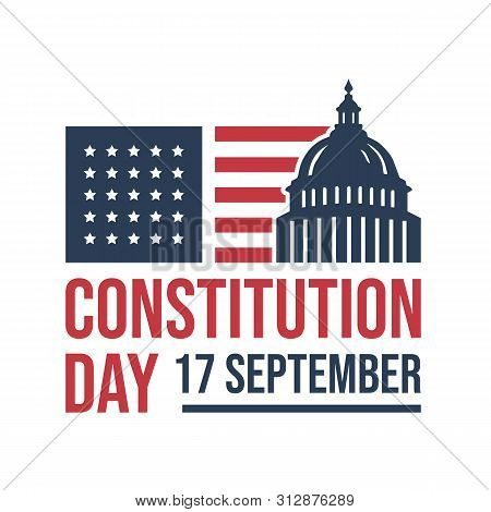 American Constitution Day National Day Of America Logo Badge Vector Isolated On White Background