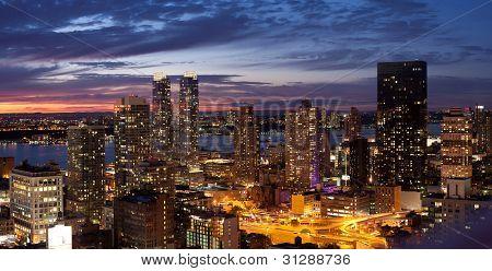 Sunset New York City Skyline