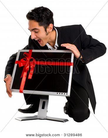 Successful Businessman Buy Monitor
