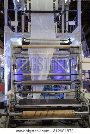 Plastic Extrusion, Polyethylene Plastic Film Blowing Machine
