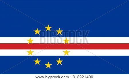 Flag Of Cape_verde. Cape Verde Vector Flag. National Symbol Of Cabo Verde