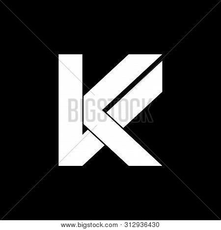 Letter Vk Simple Geometric Logo Vector Unique Unusual Luqury Simple Design Concept