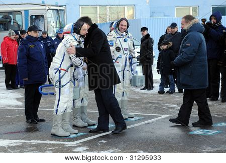 Parting Hug Before Launch