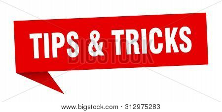 Tips Tricks Speech Bubble. Tips And Tricks Sign. Tips And Tricks Banner