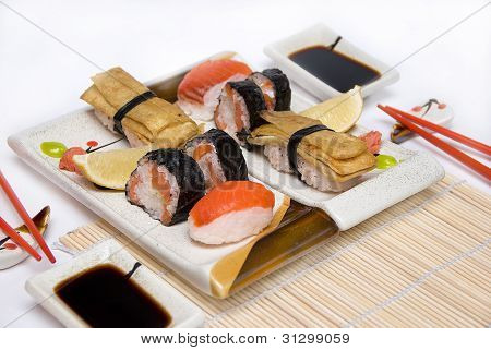 Sushi set for two.