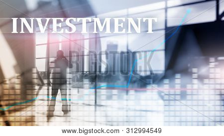 Investment, Roi, Financial Market Concept. City Fone
