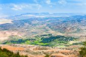 view of Promised Land from Mount Nebo in Jordan poster