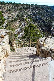 Starway Path In Walnut Canyon National Monument In Flagstaff Arizona