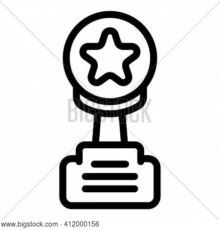 Competition Trophy Icon. Outline Competition Trophy Vector Icon For Web Design Isolated On White Bac