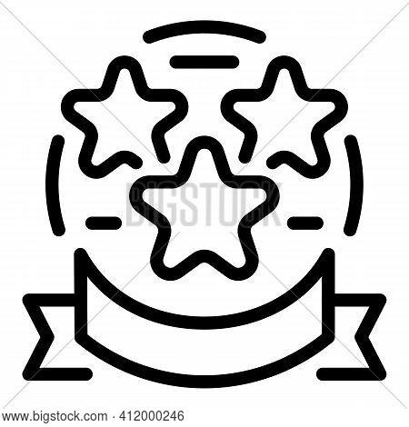 Stars Winner Award Icon. Outline Stars Winner Award Vector Icon For Web Design Isolated On White Bac