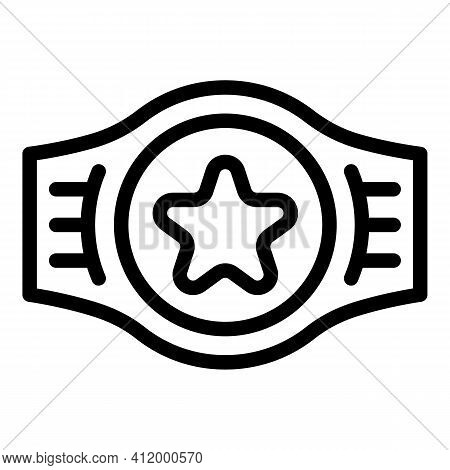 Award Belt Icon. Outline Award Belt Vector Icon For Web Design Isolated On White Background