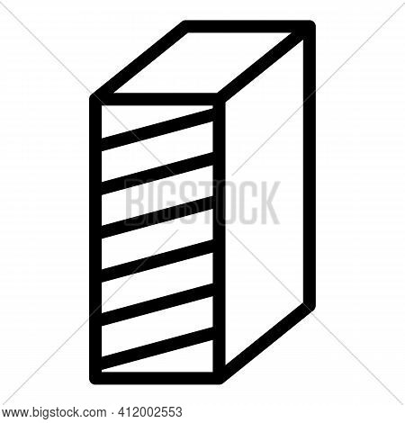 Nail Buffer Block Icon. Outline Nail Buffer Block Vector Icon For Web Design Isolated On White Backg