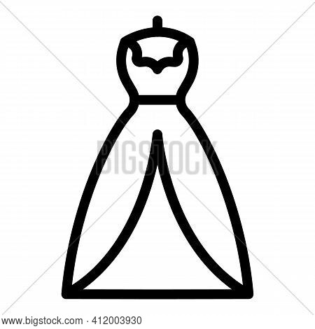 Event Marriage Dress Icon. Outline Event Marriage Dress Vector Icon For Web Design Isolated On White
