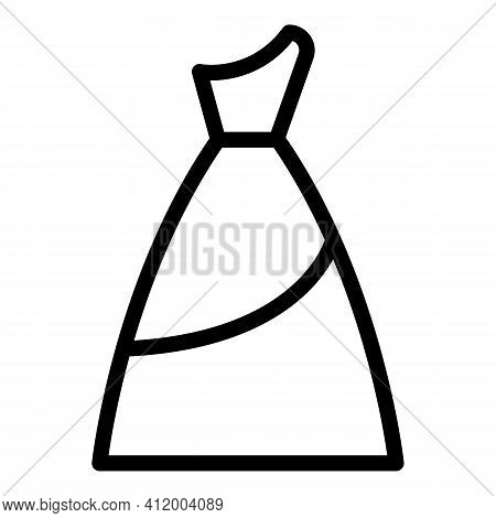 Engagement Dress Icon. Outline Engagement Dress Vector Icon For Web Design Isolated On White Backgro