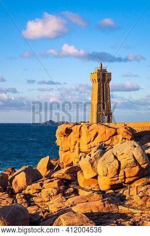 Atlantic Ocean Coast In Brittany Near Ploumanach, France.