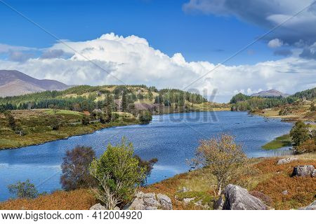 View Of Lough Looscaunagh Lake, County Kerry, Ireland