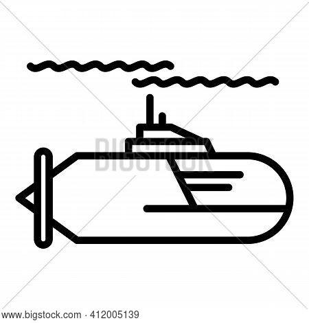 Travel Submarine Icon. Outline Travel Submarine Vector Icon For Web Design Isolated On White Backgro