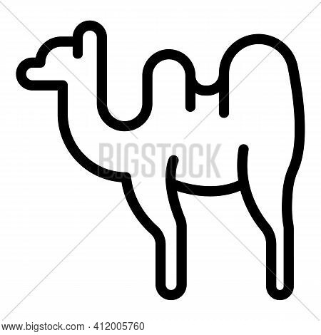 Caravan Camel Icon. Outline Caravan Camel Vector Icon For Web Design Isolated On White Background