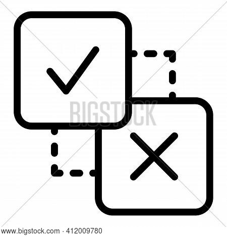 Political Democracy Icon. Outline Political Democracy Vector Icon For Web Design Isolated On White B