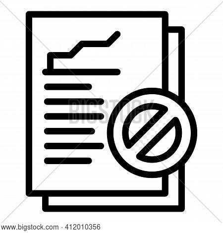 Democracy Report Icon. Outline Democracy Report Vector Icon For Web Design Isolated On White Backgro