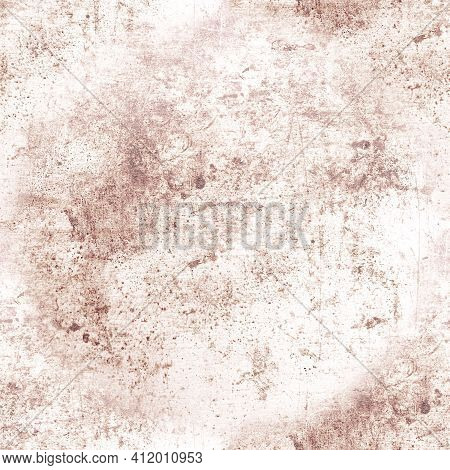 Brown Rough Grunge Wall. Graphic Dirty Dust Pattern. Vintage Stone Sketch. Ancient Dirt Wallpaper. A