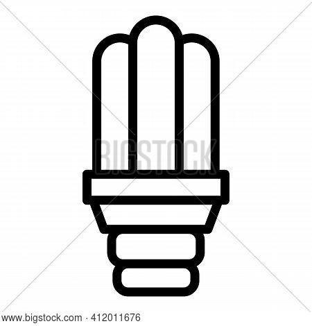 Uv Light Bulb Icon. Outline Uv Light Bulb Vector Icon For Web Design Isolated On White Background