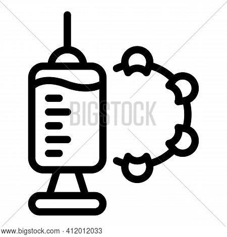 Antibiotic Syringe Icon. Outline Antibiotic Syringe Vector Icon For Web Design Isolated On White Bac