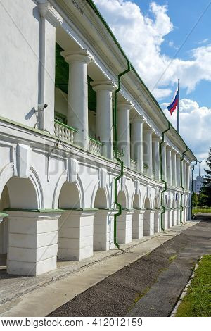 Tomsk, A Historic Building Of The Former Stock Exchange Building In The Historical Center