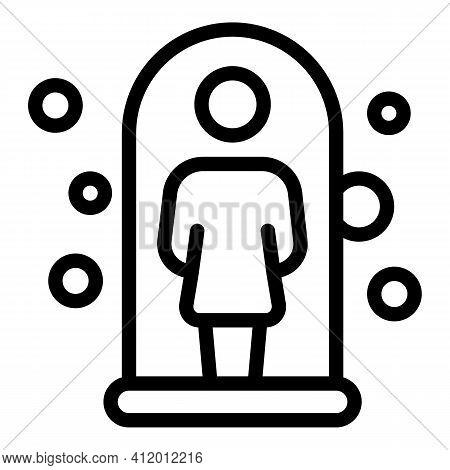Resistance Virus Body Icon. Outline Resistance Virus Body Vector Icon For Web Design Isolated On Whi